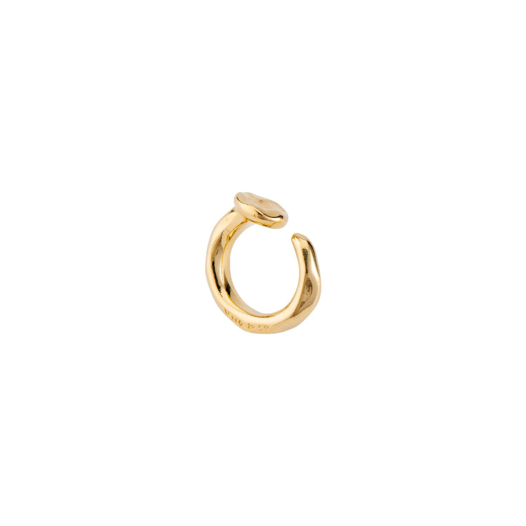 UnoDe50 Yellow Gold Tone Nail Ring