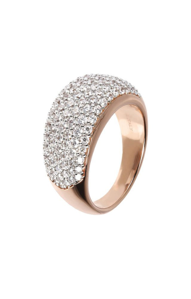 Bronzallure CZ Pave Rose Gold Ring