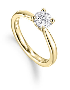 18ct Yellow Gold Round Brilliant Solitaire 0.36ct