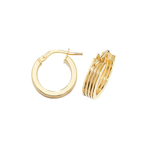 9ct Yellow Gold Hoops