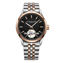 Load image into Gallery viewer, Freelancer Men's Rose Gold PVD Plated Open Aperture Watch, 42mm