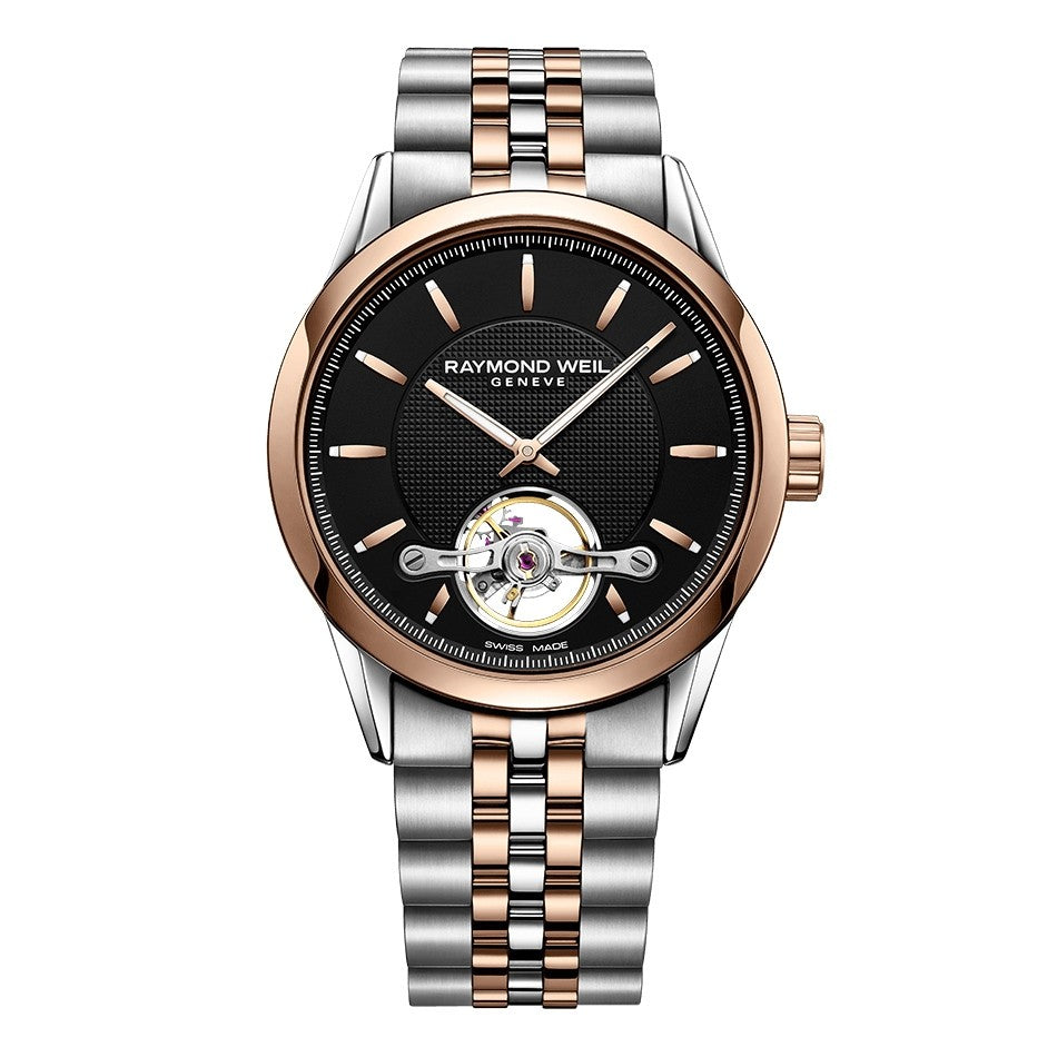 Freelancer Men's Rose Gold PVD Plated Open Aperture Watch, 42mm
