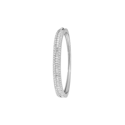 Children Sterling Silver CZ Hindged Bangle