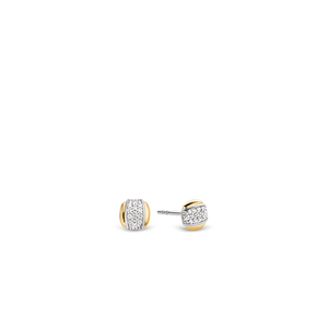 Ti-Sento Two Tone Stud Earrings
