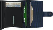 Load image into Gallery viewer, Navy Dash Mini-wallet