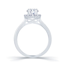 Load image into Gallery viewer, Platinum Oval Halo Wedfit Ring