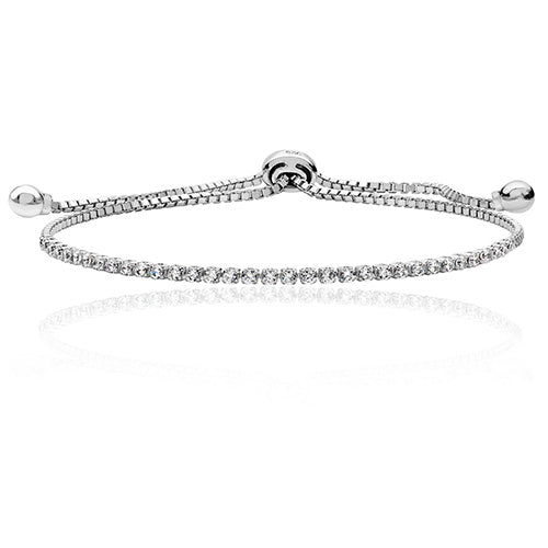 Sterling Silver Fine Adjustable Bracelet