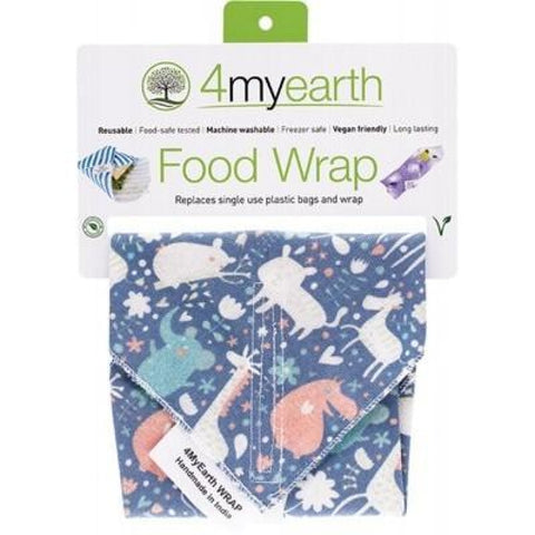 4Myearth Reusable Food Wrap - Animals 30X30Cm