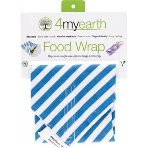4Myearth Reusable Food Wrap - Denim Stripe 30X30Cm