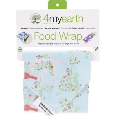 4Myearth Reusable Food Wrap - Love Birds 30X30Cm