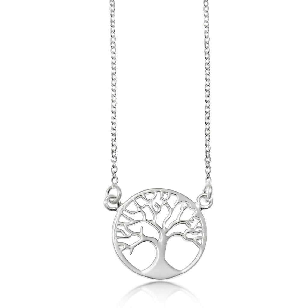 .925 Sterling Silver Tree of Life 1.3cm Necklace 45cm - A Zest for Life