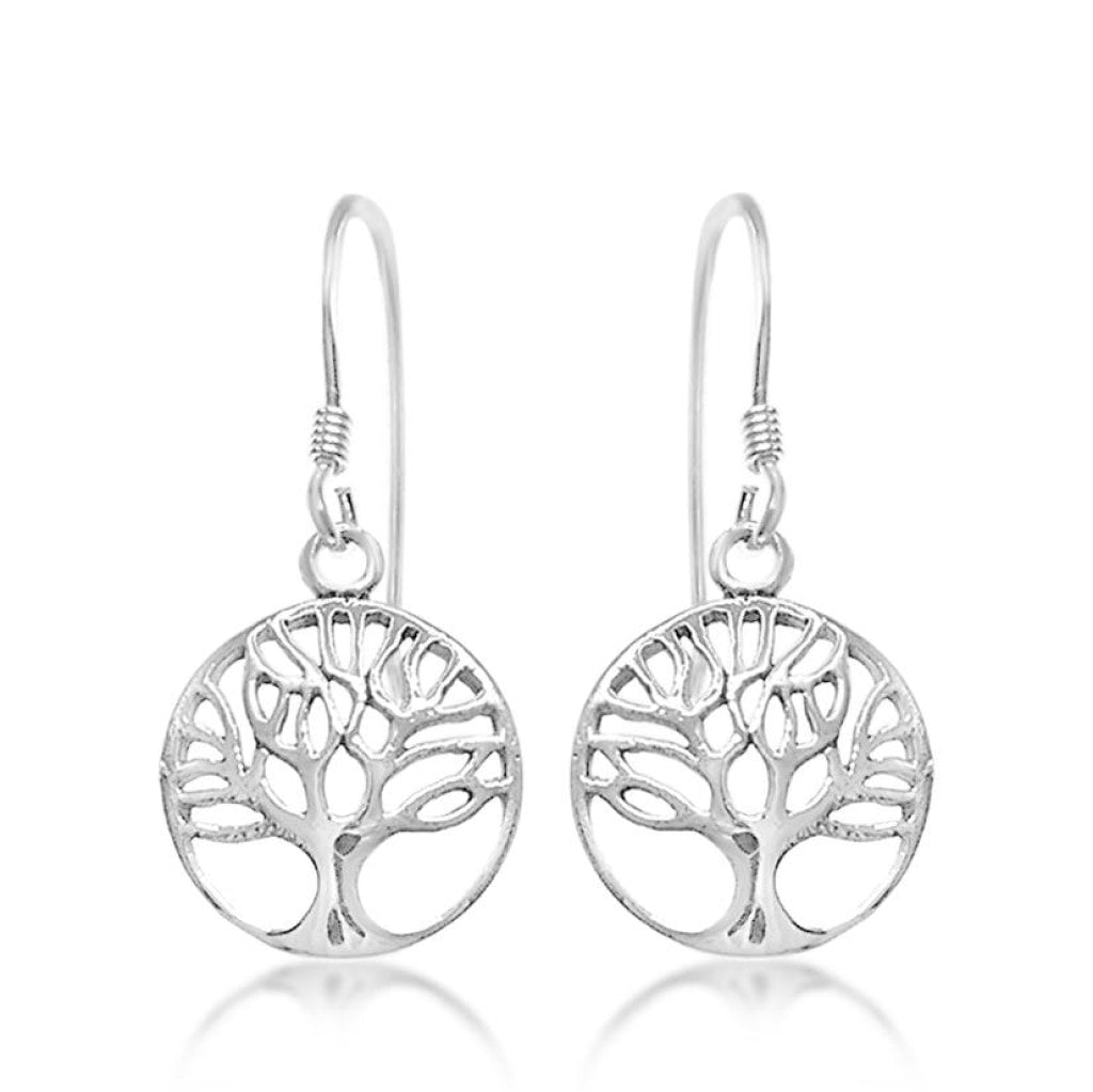 .925 Sterling Silver Tree of Life Earrings 3cm - A Zest for Life