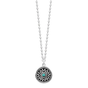 Bohemian Turquoise Flower Necklace