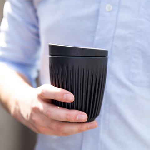 Huskee Reusable Coffee Cup Charcoal - 236ml