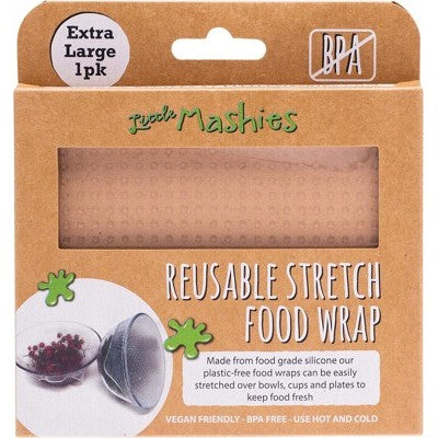 Little Mashies Reusable Stretch Silicone Food Wrap - Extra Large 30cm