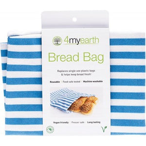 4MyEarth Bread Bag Denim Stripe - 30x40cm - A Zest for Life