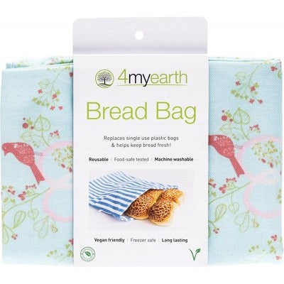 4MyEarth Bread Bag Love Birds - 30x40cm - A Zest for Life