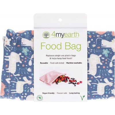 4MyEarth Food Bag Animals - 25x20cm - A Zest for Life