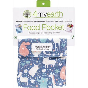 4MyEarth Reusable Food Pocket - Animals