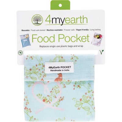 4MyEarth Reusable Food Pocket - Love Birds - A Zest for Life