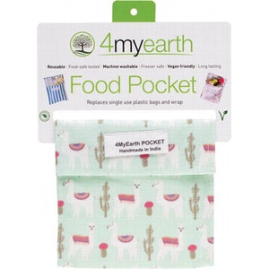 4MyEarth Reusable Food Pocket - Llamas