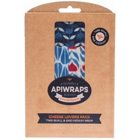 Apiwraps Reusable Beeswax Wraps - Cheese Lover Pack - A Zest for Life