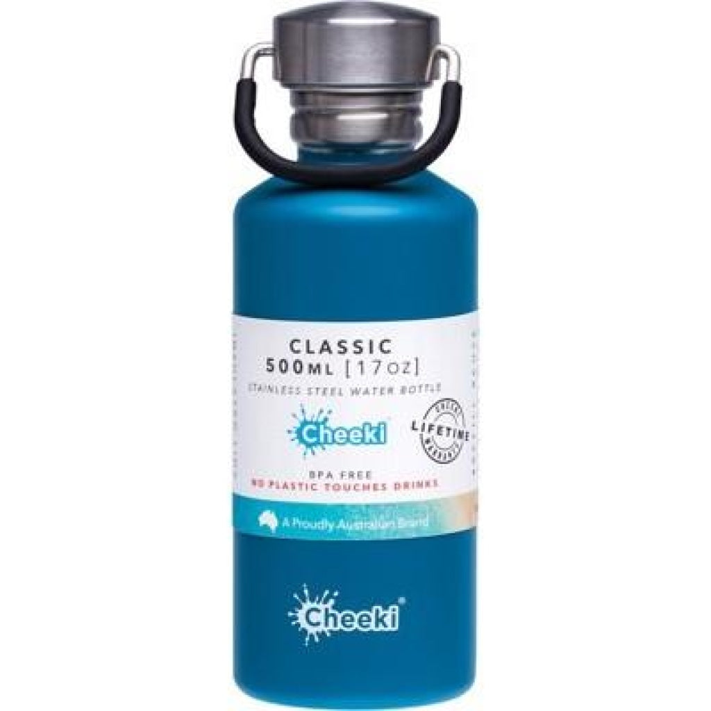 Cheeki Stainless Steel Bottle Topaz - 500Ml