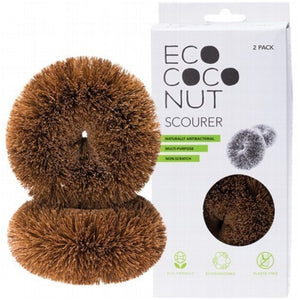 EcoCoconut Twin Pack Scourers - A Zest for Life