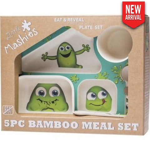 Little Mashies - 5Pc Bamboo Meal Set Biodegradable