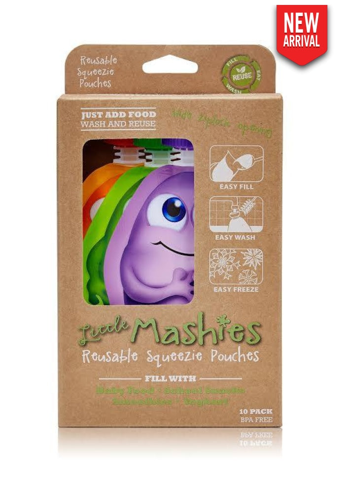 Little Mashies - Reusable Squeeze Pouch X 10