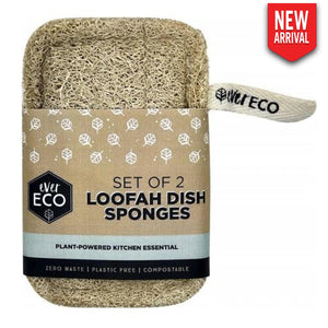Loofah Dish Sponges Set Of 2