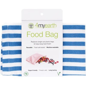 4MyEarth Food Bag Denim Stripe - 25x20cm