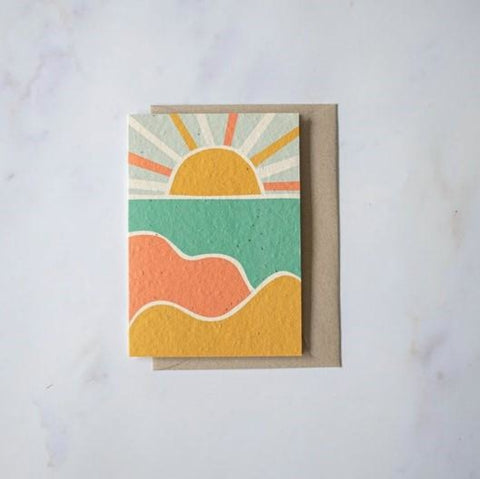 Plantable Cards - Sunset
