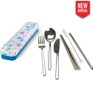 Retrokitchen - Carry Your Cutlery Passport Stamps