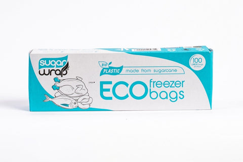 Sugarwrap Eco Freezer Bags Made From Sugarcane - Large 100