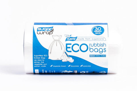 Sugarwrap Eco Rubbish Bags Made From Sugarcane - Medium 30
