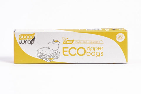 Sugarwrap Eco Zipper Bags Made From Sugarcane - Large 20