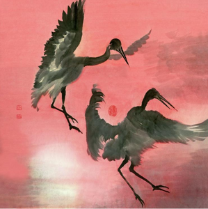 Chinese Brush Paintings and Calligraphy by River Han