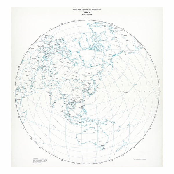 Seoul - Azimuthal equidistant projection