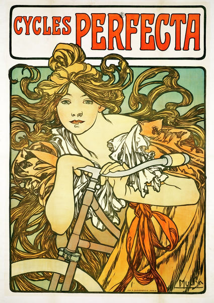 Cycles Perfecta by Alphonse Mucha, Art Print