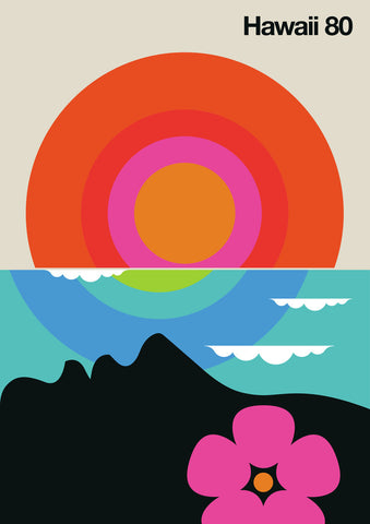 Fin Hawaii 80 Modern Vintage Art by Bo Lundberg