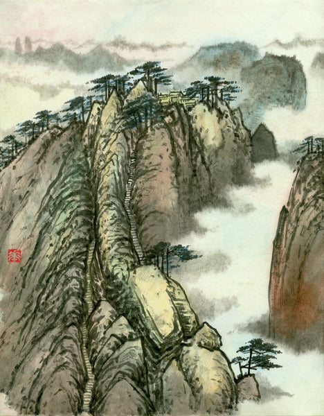 Landscape 54 Chinese Brush Painting by River Han
