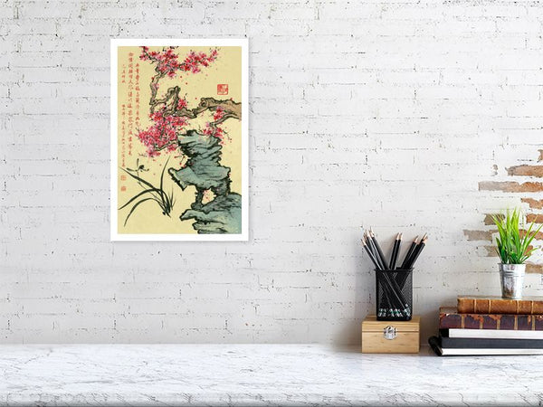 Orchid 85 Chinese Brush Painting by River Han