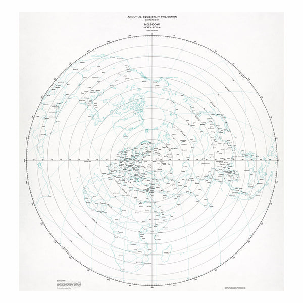Moscow - Azimuthal equidistant projection
