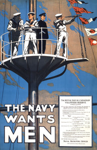 The Navy Wants Men Vintage Poster for sale