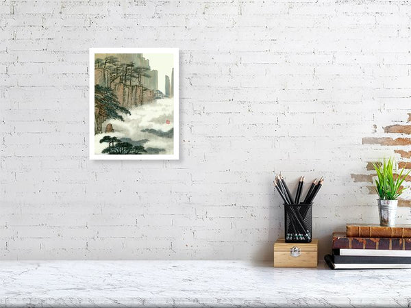 Landscape 48 Chinese Brush Painting by River Han