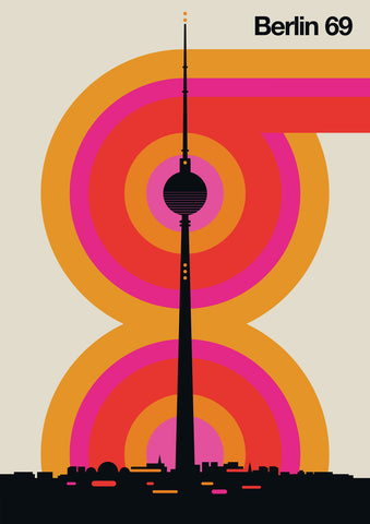 Berlin 69 Graphic Design Poster by Bo Lundberg