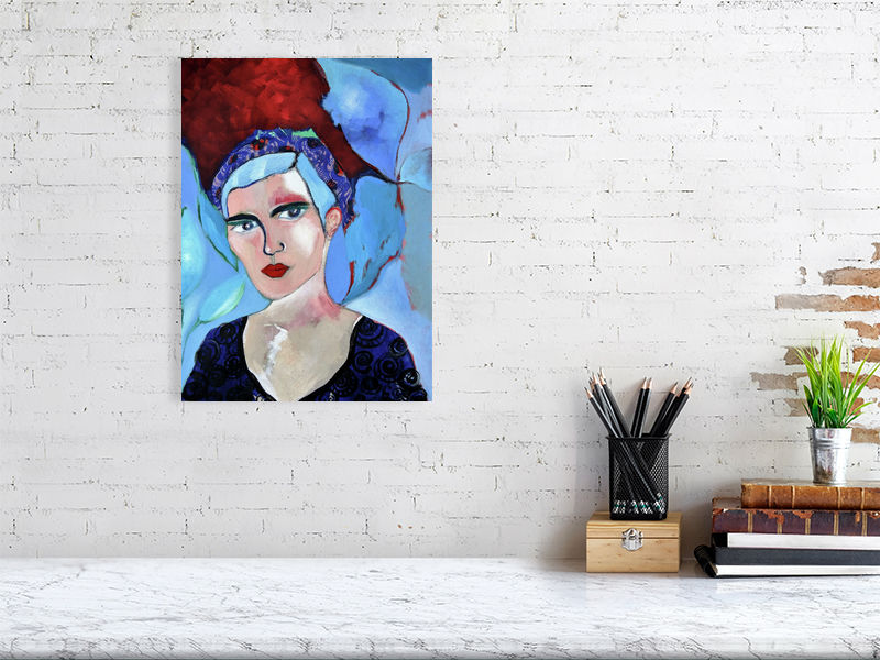 Blue is the warmest colour by Cathy Tabbakh Art Print
