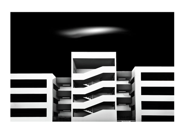 Carpark Study black and white Architecture by Antony Zacharias Fine Art Print