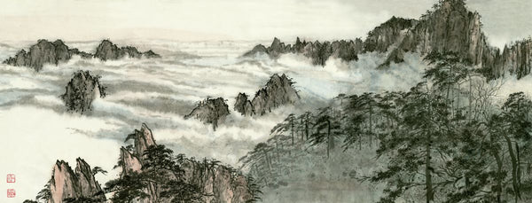 Huangshan 5 Chinese Brush Painting by River Han